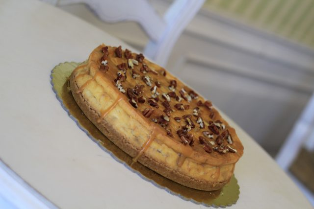 Banana Caramel Pecan Cheesecake
