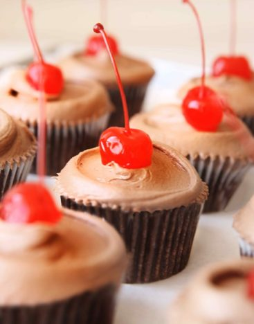 Cherry Garcia Cupcake