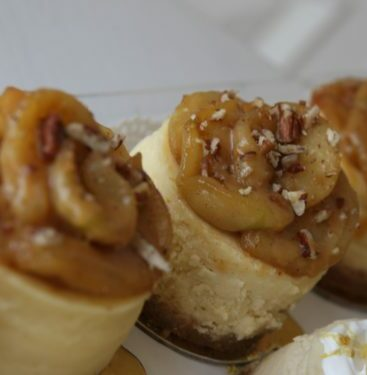 Mini Caramel Apple Pecan Cheesecake
