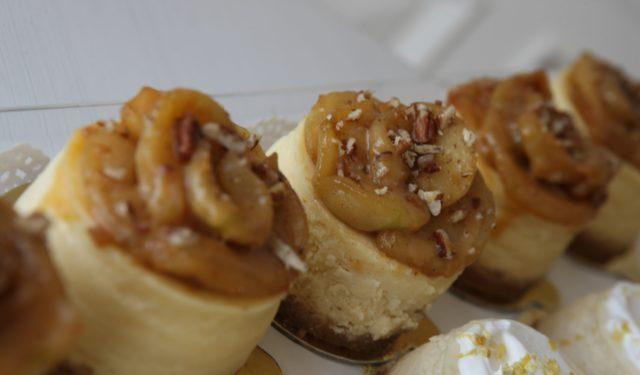 Mini Caramel Apple Pecan Cheesecake