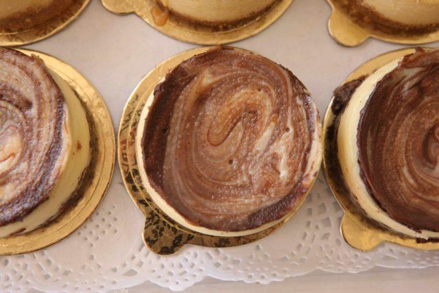 Mini Chocolate Swirl Cheesecake