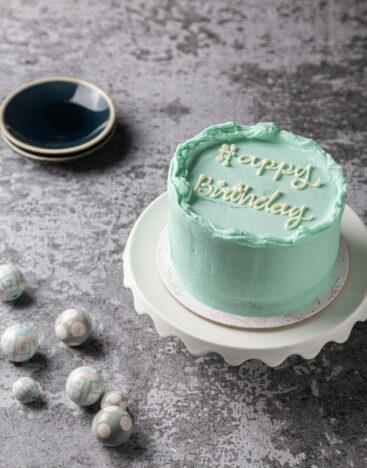 Minimalistic Cake Blue