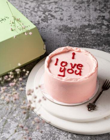 Minimalistic Cake Pink