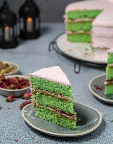 Pistachio Raspberry Cake 2
